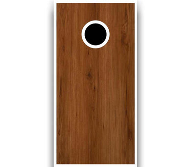 Cornhole Board Plain with White Trim - Stained Brown