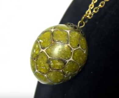 Green Opal Pendant with Chain