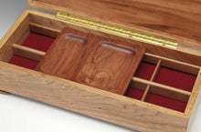 Load image into Gallery viewer, Jewelry Box - Cherry and Goncalco Alves/Natural Stone