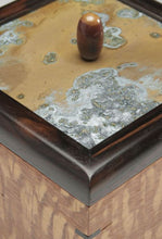 Load image into Gallery viewer, Lacewood with Copper Patina Panel Box