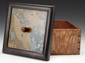 Lacewood with Copper Patina Panel Box