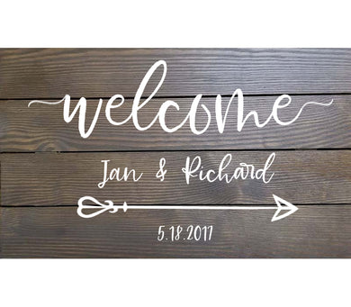 Custom Stained and Finished Wood Sign (Horizontal)