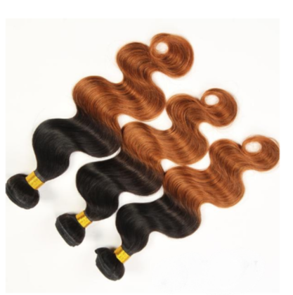 Brazilian Hair Ombre Body Wave Two Tone 1B/30 3 bundle 100% Natural Virgin Hair - Jeybeauty