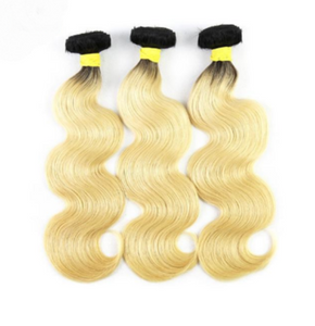 Brazilian Virgin Hair Body Wave, Ombre Color 1B# 613# - Jeybeauty