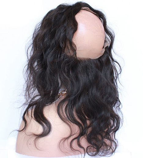 360 Lace Frontal Closure Body Wave Pre Plucked With Baby Hair Three Part - Jeybeauty
