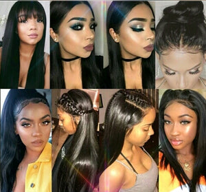 360 Lace Frontal Straight Remy Hair Natural Hairline With Baby Hair - Jeybeauty