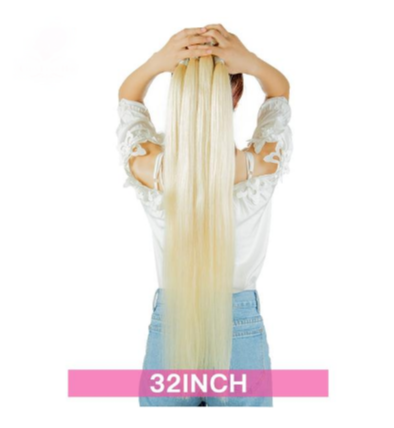 Platinum Blonde Straight Remy Human Hair1/3/4 613 Blonde - Jeybeauty