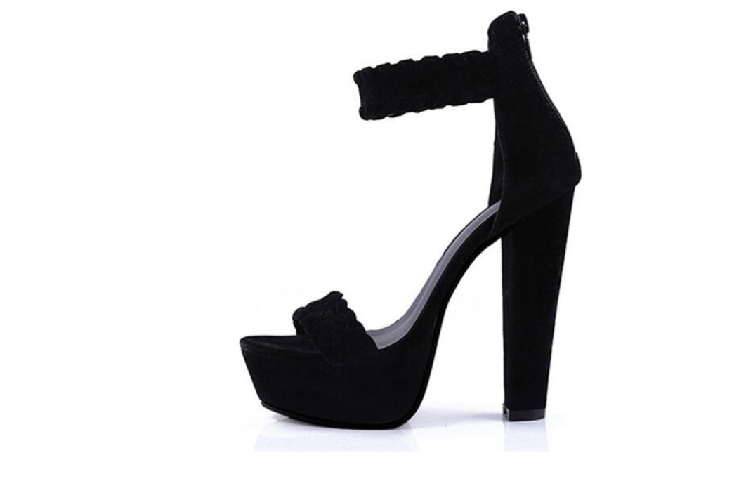 Thick-soled Super High-heeled Waterproof Platform Sandals - Jeybeauty