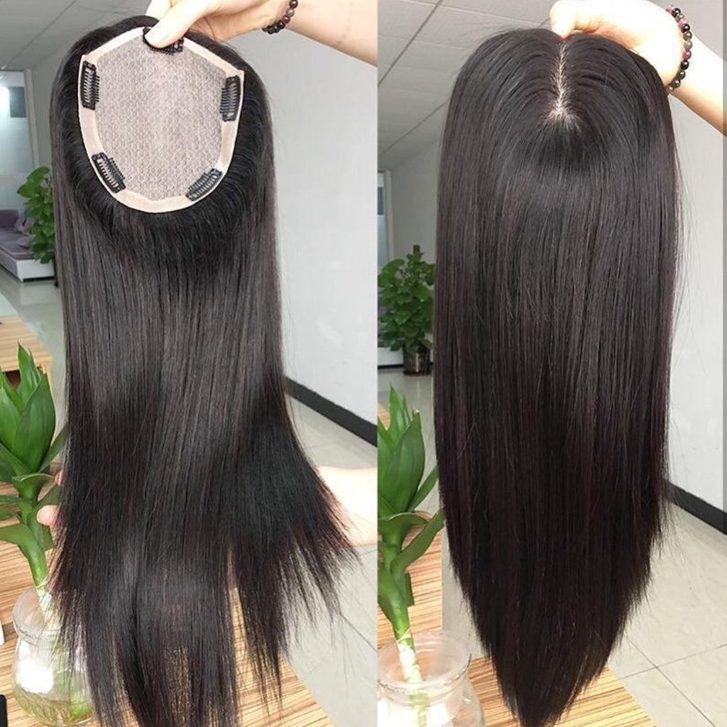 Women Toupee Hairpiece Brazilian Virgin Hair - Jeybeauty