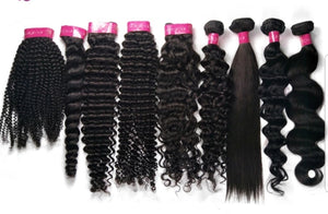 "MINK BRAZILIAN VIRGIN HUMAN HAIR SAMPLE KITS 18"" - Jeybeauty"