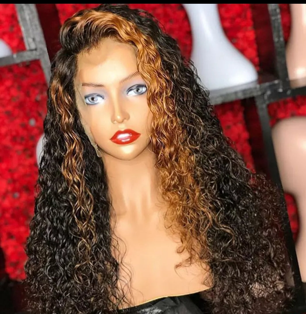 Ombre Lace Front Colored Human hair Wigs - Jeybeauty
