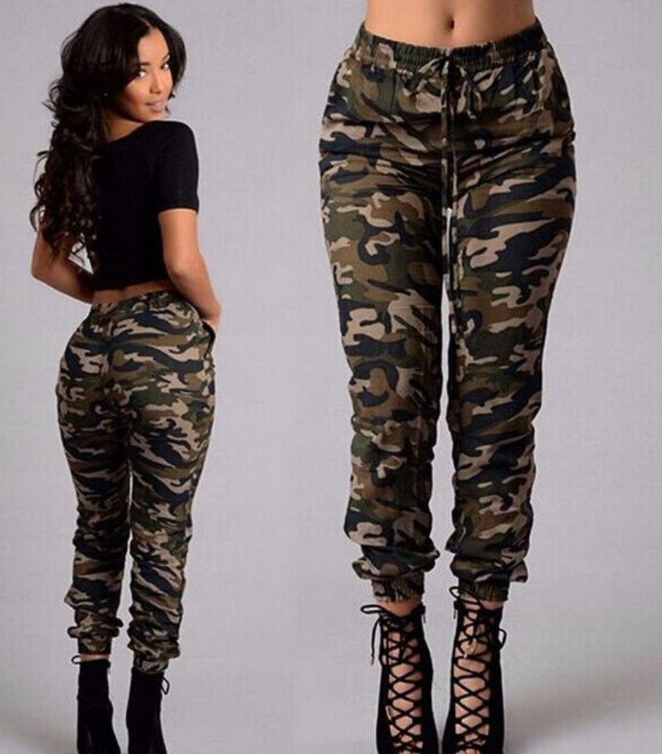 Camouflage Printed Pants - Jeybeauty