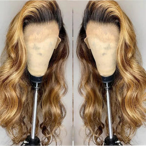Blonde Remy Ombre Color Glueless Wig - Jeybeauty