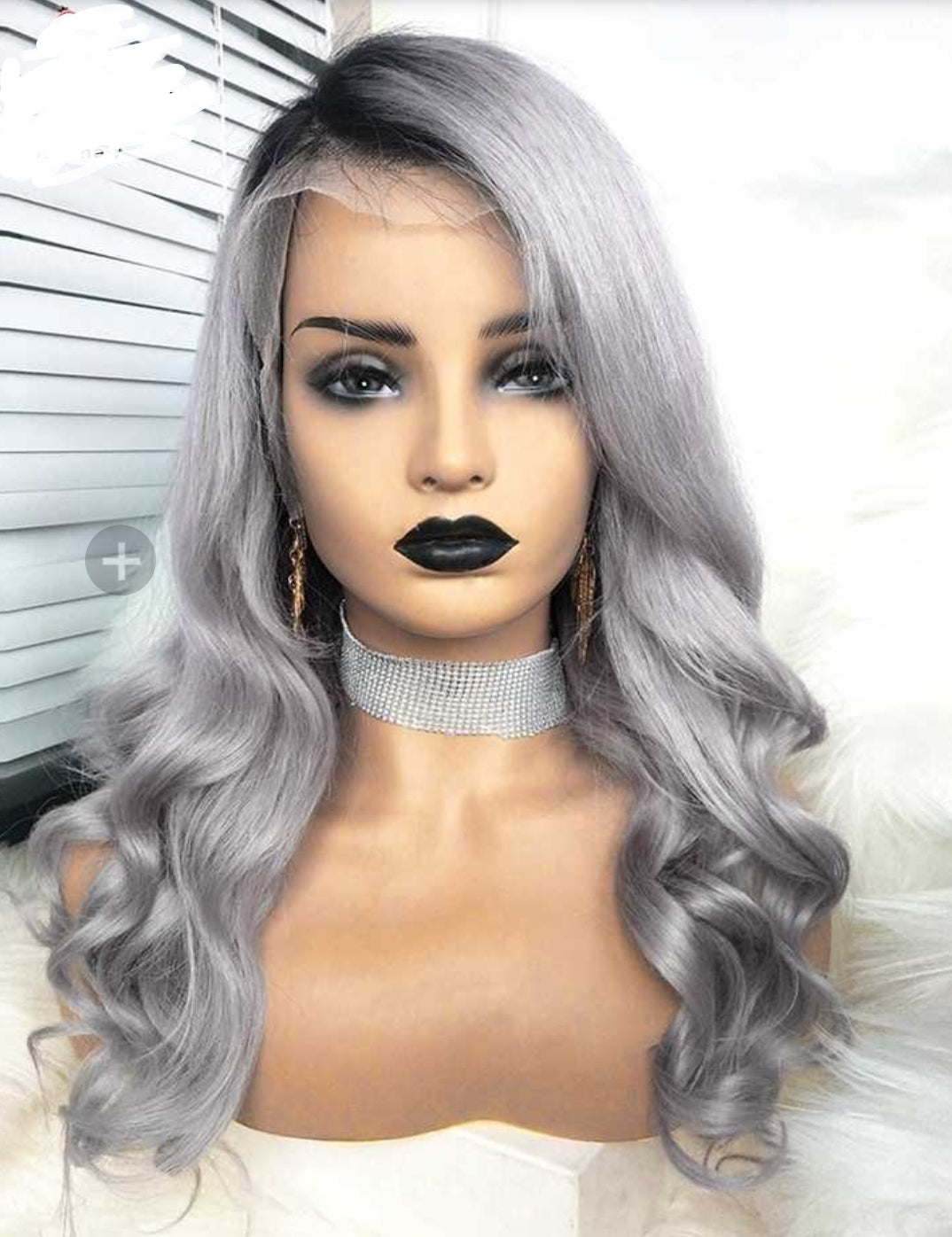 Grey Virgin Brazilian Wavy Lace Frontal Wig Glueless With Pre Plucked - Jeybeauty