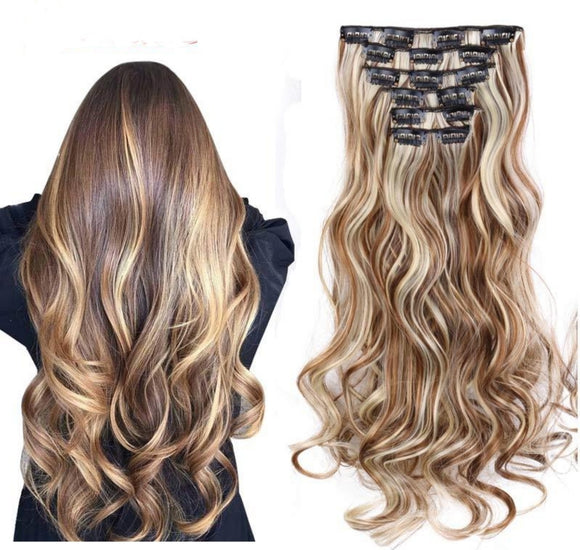 Hair Extension Set Clip In Ombre Hair - Jeybeauty
