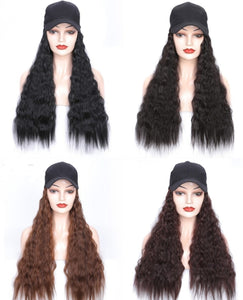 "Natural Wave 24"" 60cm 200g Wigs Hairpieces Hat - Jeybeauty"