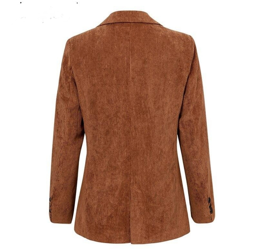 High quality Single breasted brown blazer - Jeybeauty