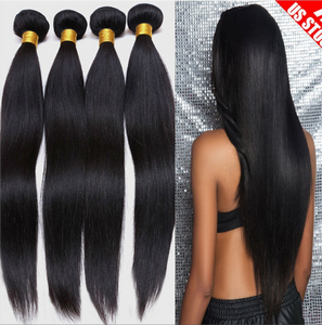 Mink Brazilian Straight Hair Weave 3 Bundles Deal 100% Human Hair Natural Color - Jeybeauty