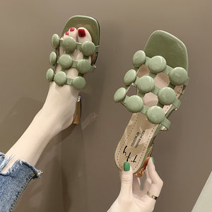 Classic Slides Pearl String Bead Slippers - Jeybeauty