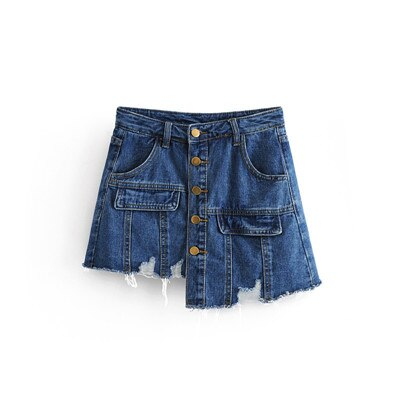 High Waisted ripped Denim Short Pants - Jeybeauty