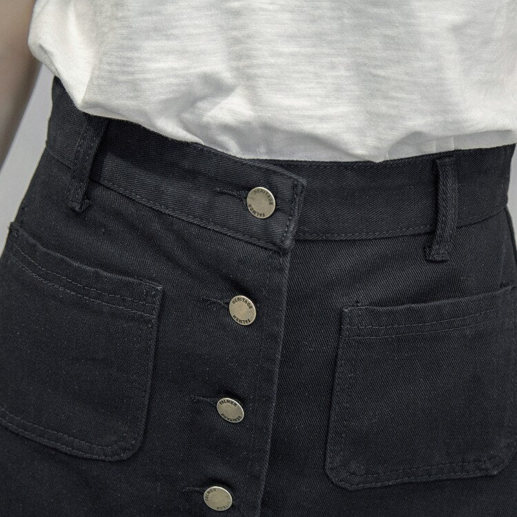 A-line High Waist Denim Jeans - Jeybeauty