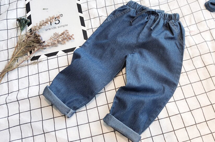 Top Quality Fashion Boy Girls Denim Set - Jeybeauty