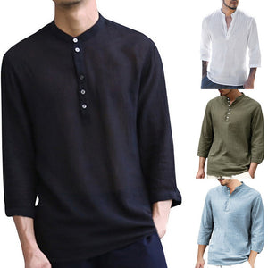 Hippie Breathable Soild Shirts - Jeybeauty