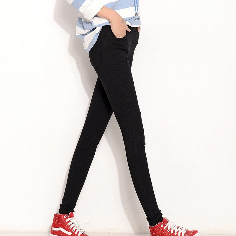 Slim Stretch Denim Jeans Leggings - Jeybeauty