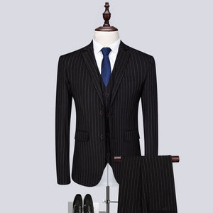Top Quality Classic Modern Striped Print blazer Suit - Jeybeauty