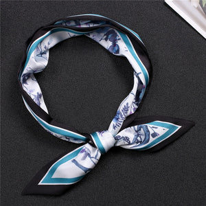 New Luxury Print Scarf Silk Hair Neck band - Jeybeauty