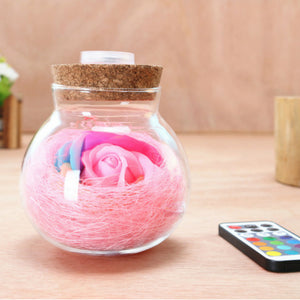 Rose Wishing Bottle Night Lightlamp - Jeybeauty