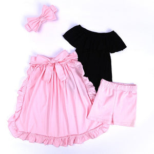 Little Angel Bow Tail Set - Jeybeauty