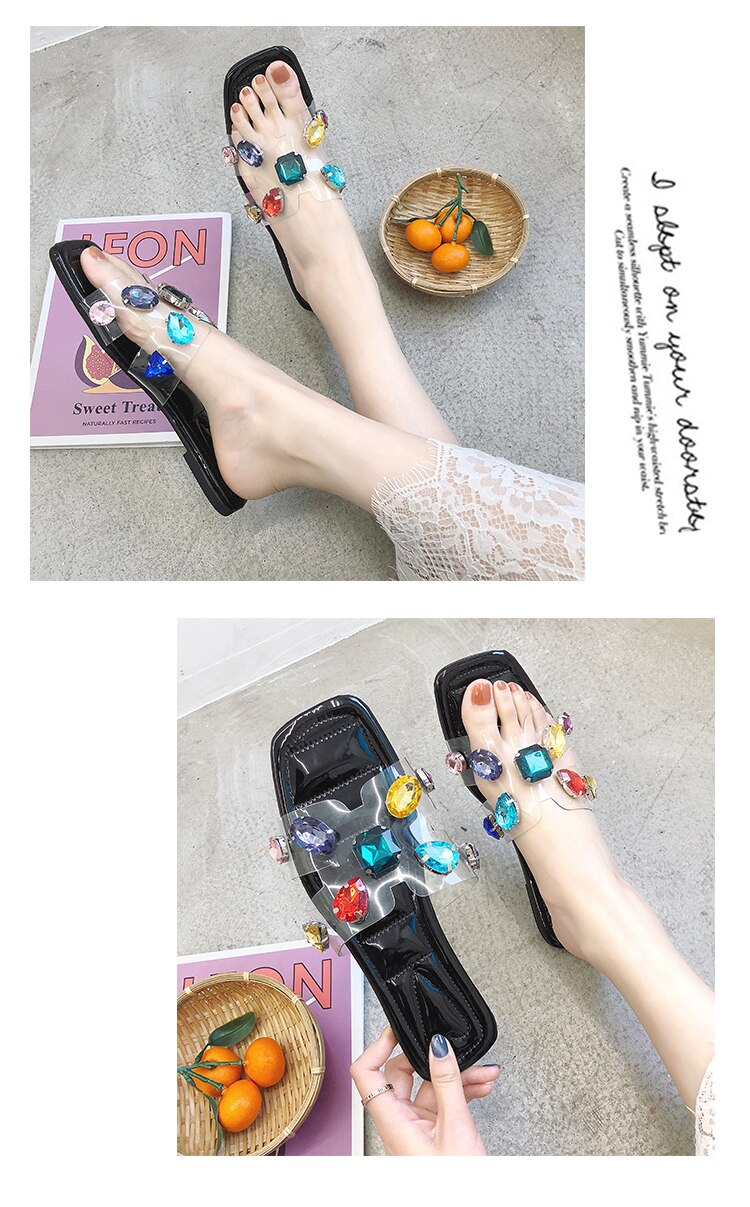 Flat Comfortable Peep Toe Slippers - Jeybeauty