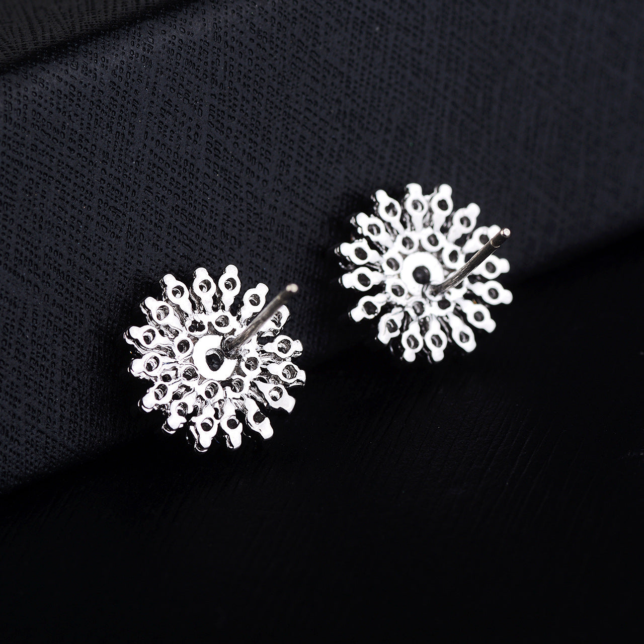 925 Pure Silver Pin Snowflake Inlaid - Jeybeauty