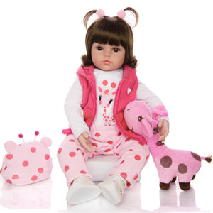 Realistic Baby Doll With Giraffe - Jeybeauty