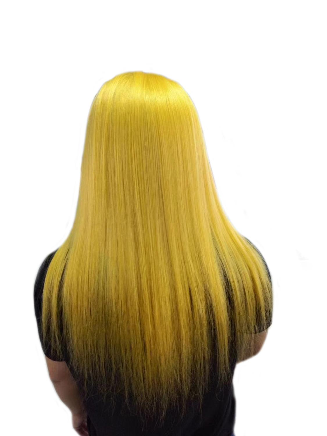 Brazilian Ombre yellow transparent Lace Wig - Jeybeauty