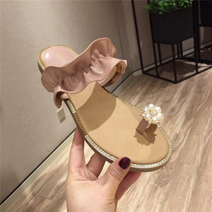 Ruffles Casual Slides Slippers - Jeybeauty
