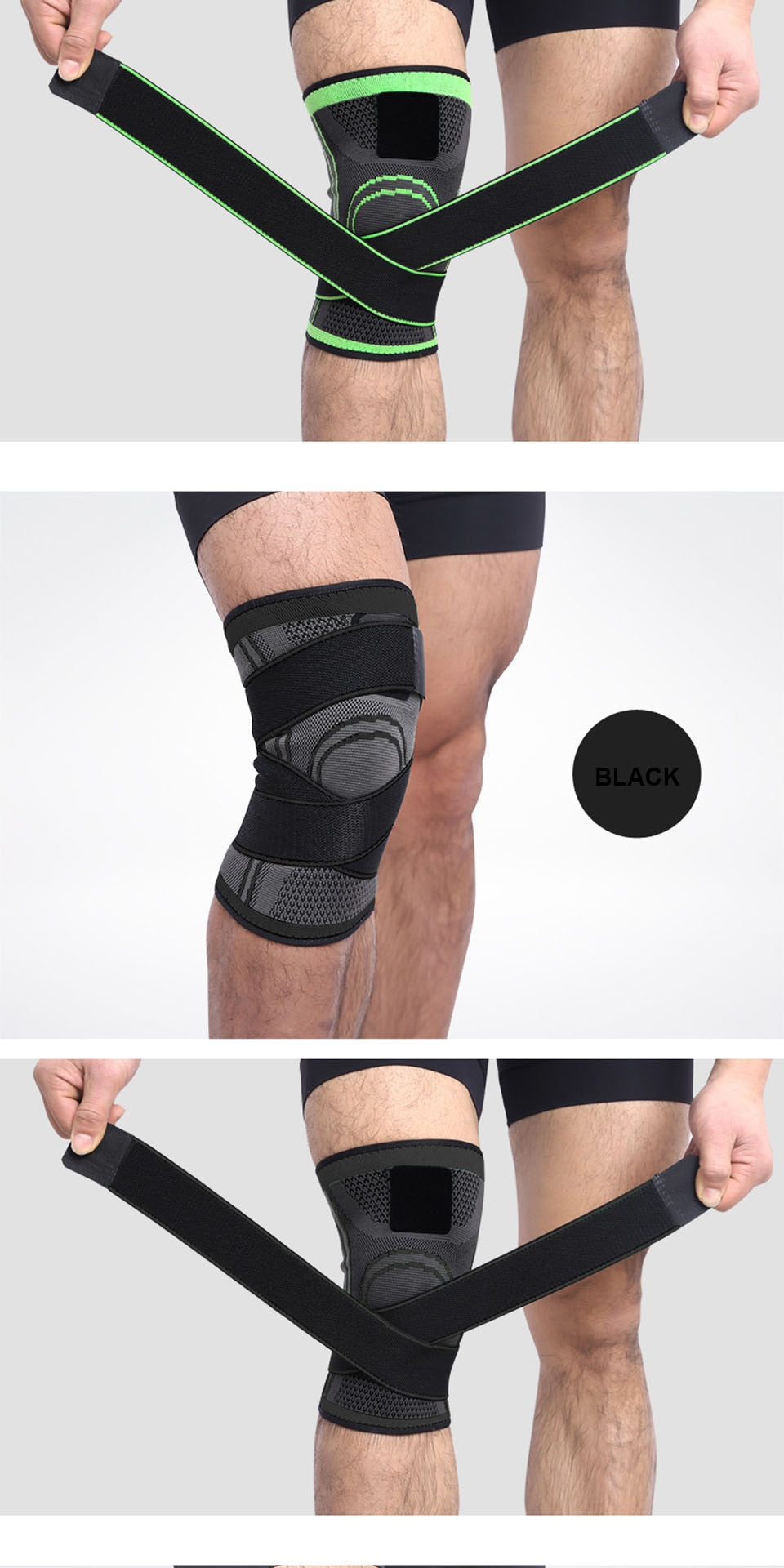Protective Sports Knee Pad Breathable Bandage - Jeybeauty