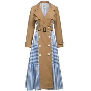 Personality Windbreaker Trench Gown - Jeybeauty