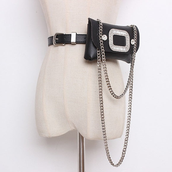 New Elegant Belt Detachable Print Pocket - Jeybeauty