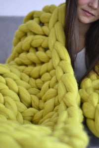Hand-knitted Warm Chunky Blanket - Jeybeauty