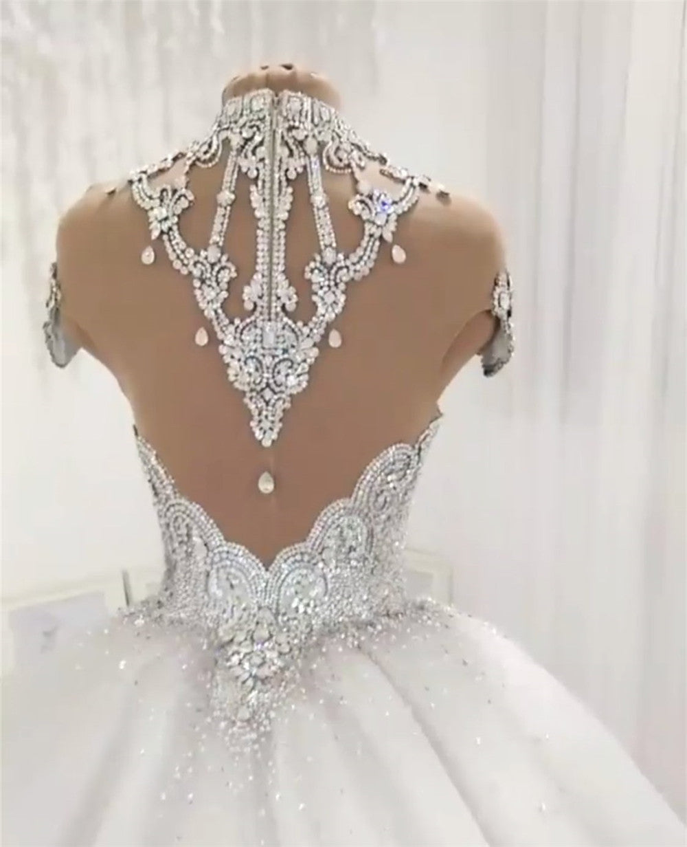Royal Sweetheart Crystal Beaded Bridal Gowns - Jeybeauty