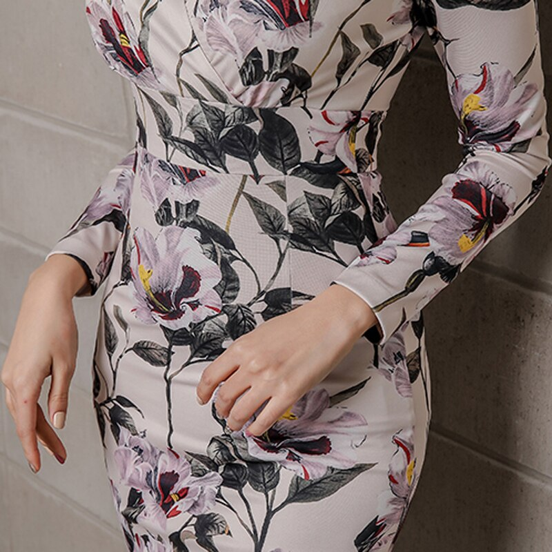 Elegant Full Sleeve Split Bodycon - Jeybeauty