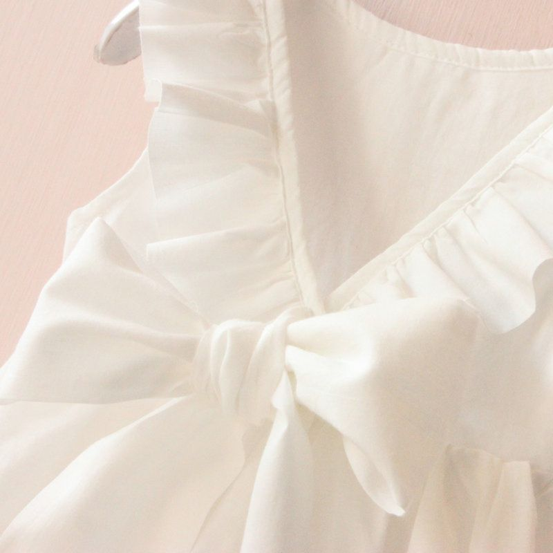 White Color TOP  Princess Dress - Jeybeauty