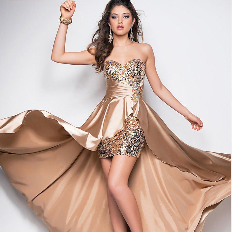 High Quality Sequined Prom Dress - Jeybeauty