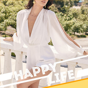 Elegant Celebrity White Playsuit - Jeybeauty