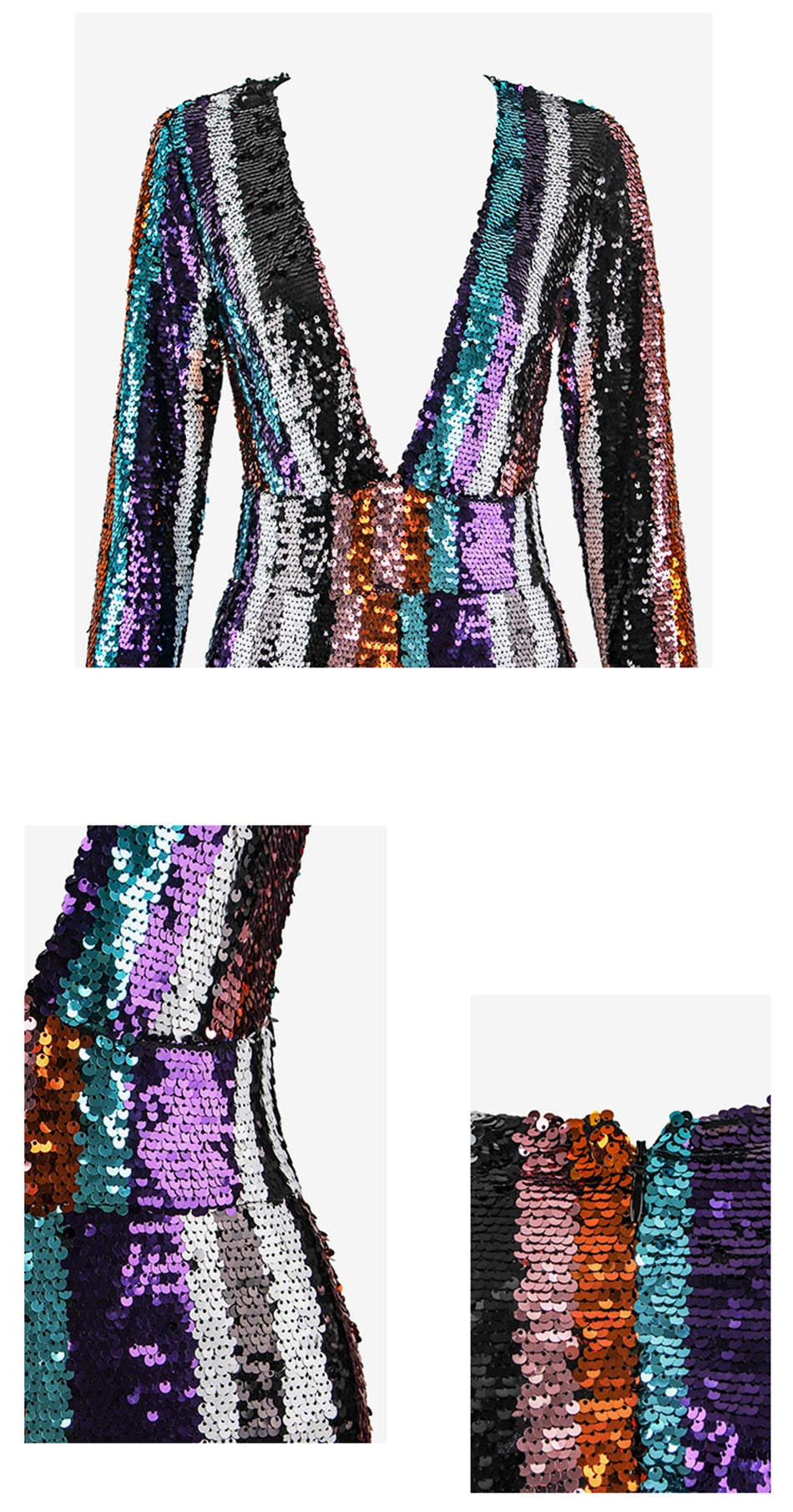 Elegant Sequined Celebrity Bodycon - Jeybeauty