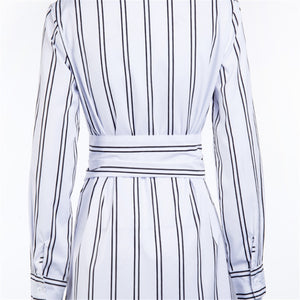 Stripes Tunic Long Sleeve Shirt - Jeybeauty