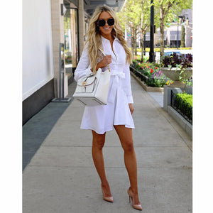 England Style White Patchwork Dress - Jeybeauty