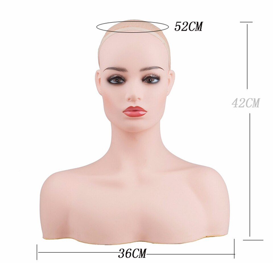 High-end luxury Female Realistic Mannequin Head - Jeybeauty
